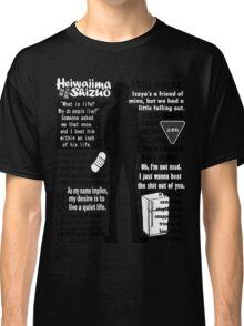 Heiwajima Shizuo Quotes Classic T-Shirt