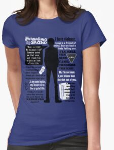 Heiwajima Shizuo Quotes Womens Fitted T-Shirt