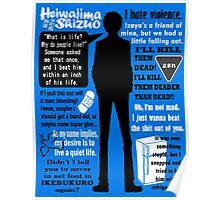 Heiwajima Shizuo Quotes Poster