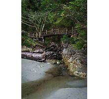 Foot bridge at Tofino Photographic Print