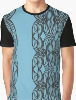 Blue Lotus Reflection Graphic T-Shirt