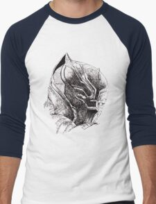 Black Panther art Men's Baseball ¾ T-Shirt