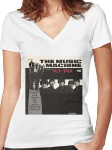 Music Machine Women's Fitted V-Neck T-Shirt