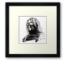 Winter Soldier art 2 Framed Print