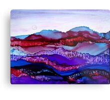"""""""Blue Mountain Dream"""" - Colorful Unique Original Artist's Landscape! Metal Print"""