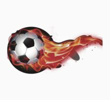 Soccer ball on fire Kids Tee