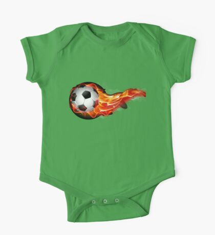 Soccer ball on fire One Piece - Short Sleeve