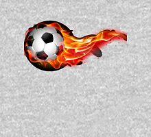 Soccer ball on fire Unisex T-Shirt