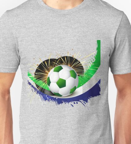 Beautiful brazil colors concept wave soccer ball Unisex T-Shirt