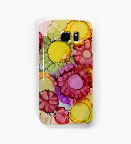 """""""Late Summer Blooms"""" - Colorful Unique Original Floral Painting! Samsung Galaxy Case/Skin"""