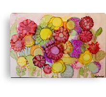 """Late Summer Blooms"" - Colorful Unique Original Floral Painting! Canvas Print"