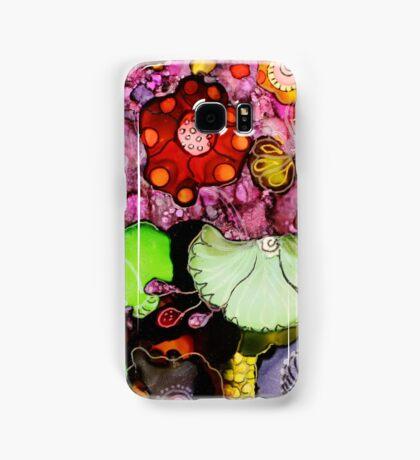 """Fantasy Garden"" - Colorful Unique Original Painting -  Artist's  Floral Design! Samsung Galaxy Case/Skin"