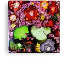 """""""Fantasy Garden"""" - Colorful Unique Original Painting -  Artist's  Floral Design! Canvas Print"""