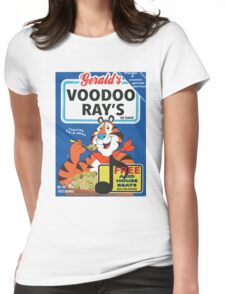 VOODOO RAY'S CEREAL BOX Womens Fitted T-Shirt