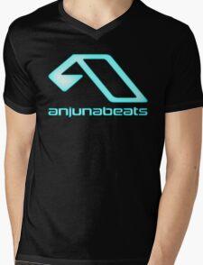 Blue-Anjunabeats Mens V-Neck T-Shirt