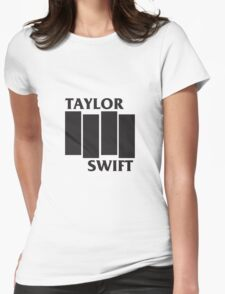 Taylor Swift Black Flag Womens Fitted T-Shirt
