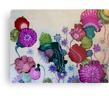 """Whimsy"" - Colorful Unique Original Artist's Fantasy Floral Design! Metal Print"