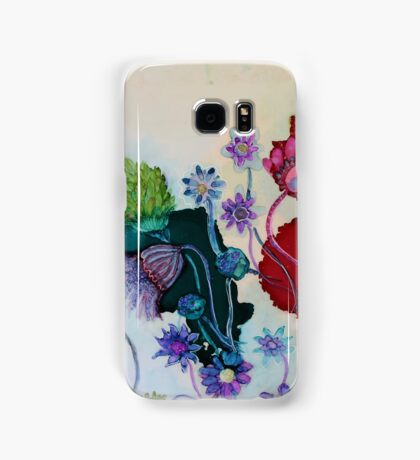 """Whimsy"" - Colorful Unique Original Artist's Fantasy Floral Design! Samsung Galaxy Case/Skin"