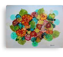 Colorful Unique Original Floral Design! Metal Print