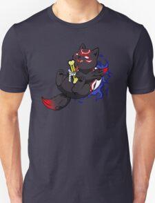 Dark Chibiterasu + Bone + Mirror Unisex T-Shirt