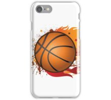 Basketball in fire iPhone Case/Skin