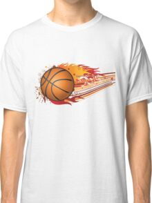 Basketball in fire Classic T-Shirt