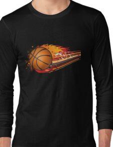Basketball in fire Long Sleeve T-Shirt