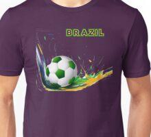 Beautiful brazil colors concept shiny soccer ball Unisex T-Shirt