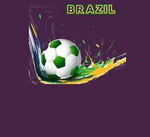 Beautiful brazil colors concept shiny soccer ball Unisex T-Shirt