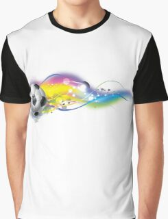 Soccer ball on colorful lightning way Graphic T-Shirt