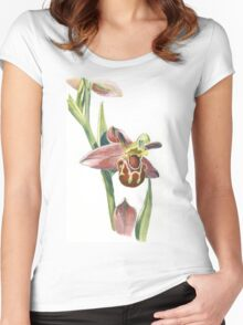 Bee Orchid Women's Fitted Scoop T-Shirt