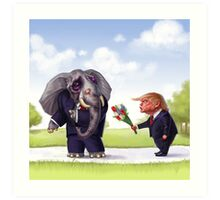 An Elephant Shouldn't Forget Art Print