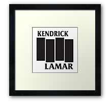 Kendrick Lamar Black Flag Framed Print