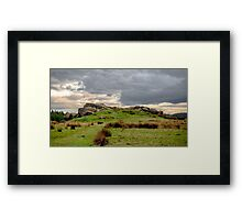 Geological rock formations Framed Print