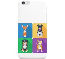 dog icon flat design  iPhone Case/Skin