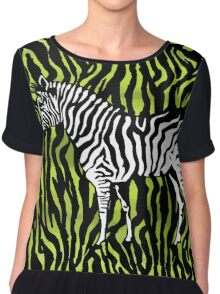 Zebra - animal colour pop art Chiffon Top