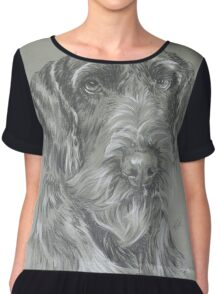 German Wire-haired Pointer Chiffon Top