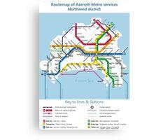 Azeroth - Northrend Routemap Canvas Print