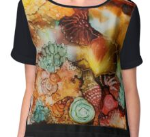 """Under the Sea 2"" Colorful Unique Original Artist's Design! Chiffon Top"