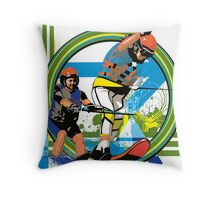 Water skiers Throw Pillow