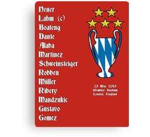 Bayern Munich 2013 Champions League Winners Canvas Print