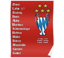 Bayern Munich 2013 Champions League Winners Poster