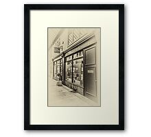 The Bear Shop Vintage Framed Print