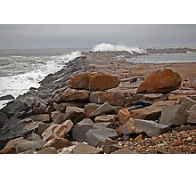 Storm Surf on the Breakwater Photographic Print