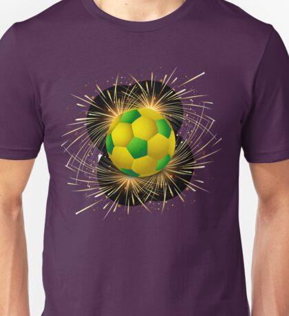 Beautiful brazil flag concept grunge card Unisex T-Shirt