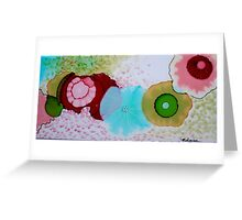 """Geodes"" Colorful Unique Original Original Artist's Painting! Greeting Card"