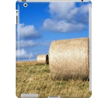 Hay bales in a field in Wiltshire, United Kingdom iPad Case/Skin