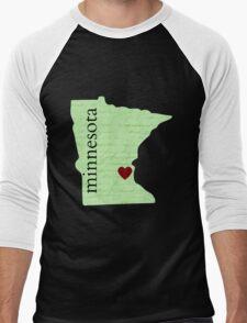 State Of Minnesota  Men's Baseball ¾ T-Shirt