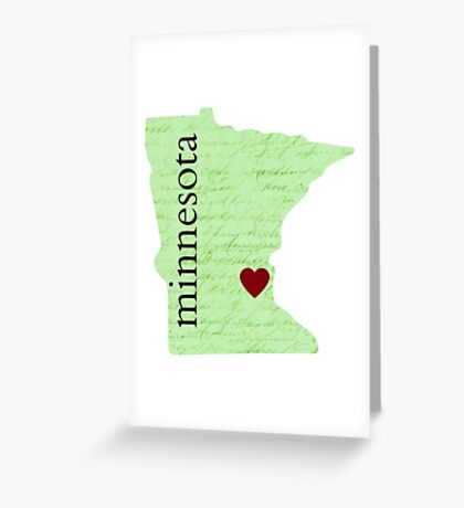 State Of Minnesota  Greeting Card