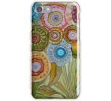 """Whimsical Bouquet"" -Colorful Unique Original Artist's Floral Design! iPhone Case/Skin"